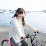 自転車と観光客